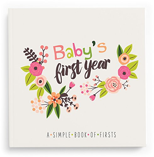Lucy Darling Baby's First Year Memory Book: A Simple Book of Firsts - Little Artist Baby Journal - Baby Album A Babys First Year Calendar