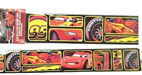 Bulletin Disney Cars Board Trim Wall Kids Back to School Pre-school Elementary Borders 14 Strips 18 x (2)