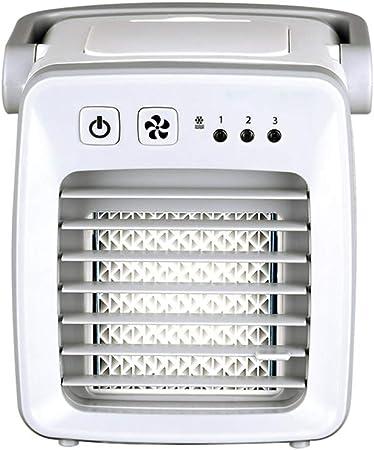 Opinión sobre SXRLFJ Mini Evaporativo Enfriador Portátil Oscillating Ventilador de Aire Acondicionado Dormitorio Aire Acondicionado (Color : White)