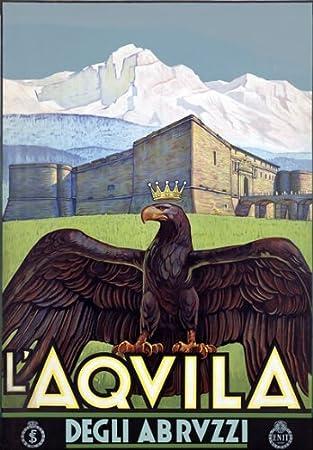 TV76 Vintage 1930/'s ABRUZZO Italian Italy Travel Tourism Poster A4