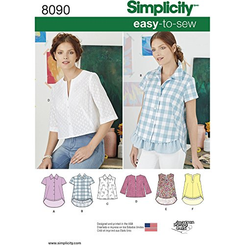 - Simplicity Creative Patterns Simplicity PATTERNS Misses' Easy-To-Sew Button Shirt and Pullover Top Size: H5 (6-8-10-12-14), 8090