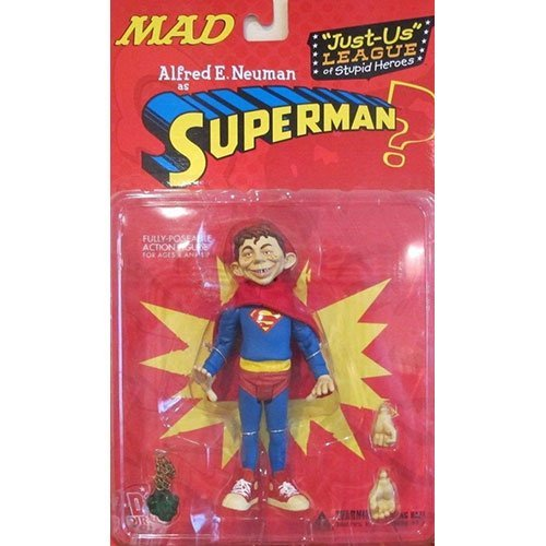DC Comics MAD Alfred E. Neuman as Superman Action Figure ()