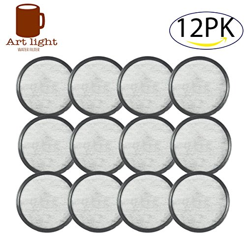 Art light MR. Coffee Water Filter Replacement Discs Compatible Water Filters - Universal 12-Replacement Charcoal Water Filters For MR. Coffee Machines