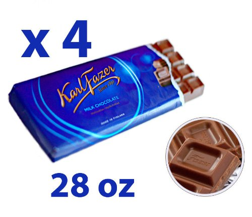 4 Bars of Karl Fazer Finland Original Milk Chocolate