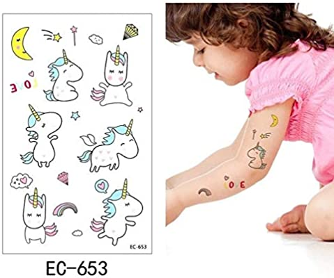 adgkitb 5 Piezas Tatuaje Temporal Pegatina Colorido Falso Tatuaje ...