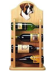 FAWN UNCROPPED Boxer Wine Rack 4 Bottle Design In Light Oak By Michael Park