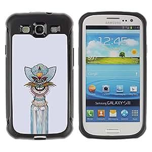 """Pulsar iFace Series Tpu silicona Carcasa Funda Case para Samsung Galaxy S3 III I9300 , Gráfico de la mano del personaje interesante"""""""