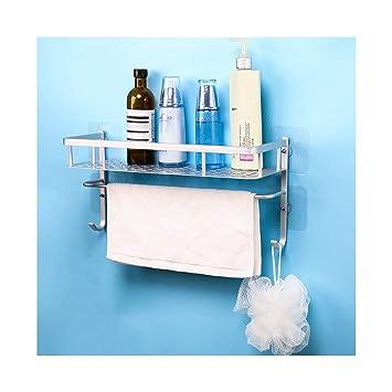 HQQ Estante Adhesivo sin Perforaciones baño Colgante Toalla Estante Almacenamiento artículos de baño baño Gancho de Almacenamiento Creativo: Amazon.es: ...