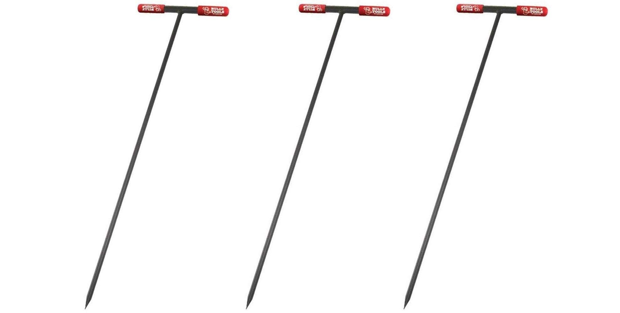 Bully Tools 99203 Soil Probe Steel Tstyle Handle, 48_inch (Pack of 3)