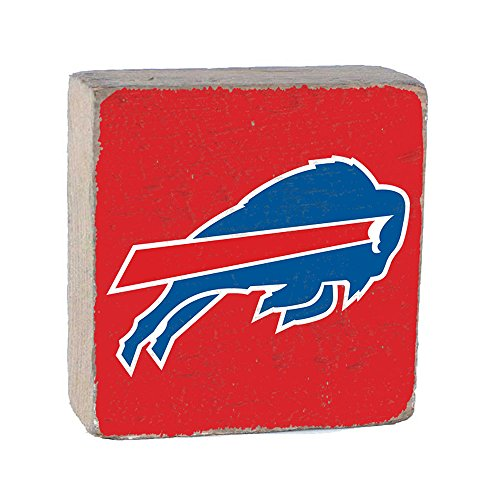 NFL Buffalo Bills, Team Color Background Team Logo Block by Rustic Marlin 6