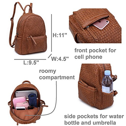 Small Women Backpack Purse for Women ladies Fashion Stylish Casual Shoulder Bags … (Tan) by Shomico (Image #4)