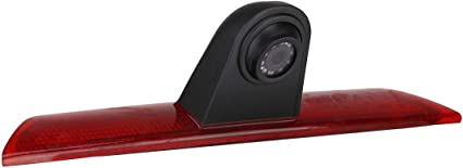 Third Roof Top Mount Brake Light Brake Light Rear Backup Reversing Camera With 7 inch Dash Mounted Monitor for Ford Transit Jumbo F150 F350 F250