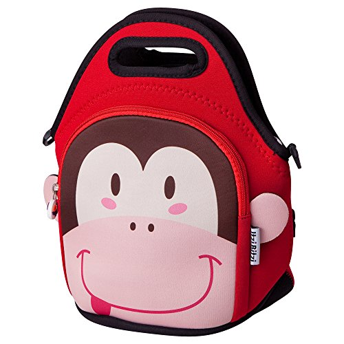 Gift Monkey Unique (Waterproof, Insulated Kids Neoprene Lunch Bag with Adjustable Strap by Itzi Bitzi | Unique, Fun Children's Lunch Bag and Backpack | Lightweight Lunch Tote with Handle for Easy Carrying - Monkey)