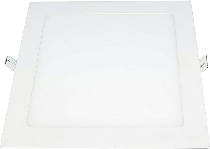 Placa LED Cuadrada SuperSlim 25W Pack 2 Downlight LED Blanco Frío 6000k-6500K: Amazon.es: Iluminación
