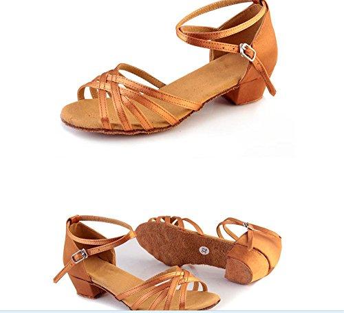 Latine Taille amp; Enfants Femme Gold À Pour Fond 26 Mou De Pratiquer Chaussures Des Danse Satin Tmkoo Étudiantes Color Tqzx0d0