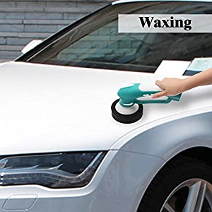 Autocastle Electric Car Polisher Automatic Rotary Car Waxer Sander, Automobile Polishers and Buffers Kit with Rechargeable Brush Head and Rechargeable Battery. (Blue)
