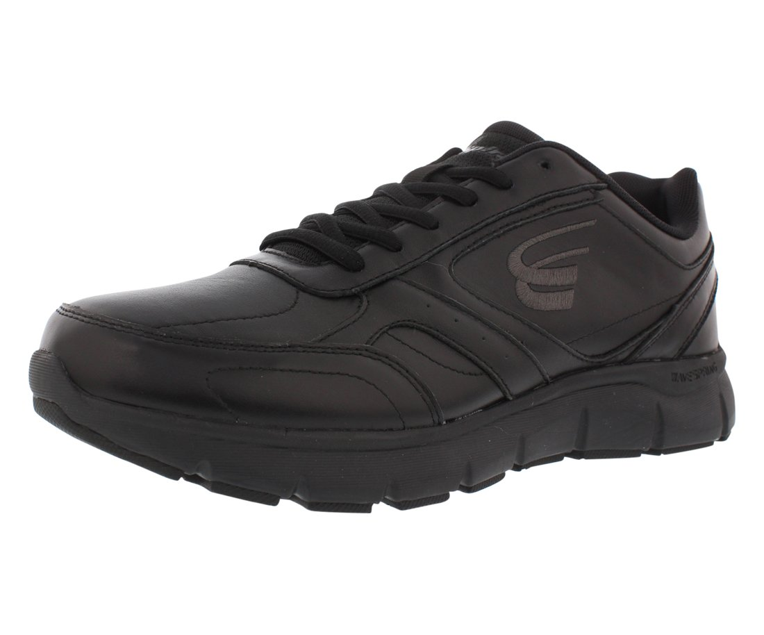 Spira WaveWalker Men's Slip Resistant Walking Shoe B07B9PCSYH 7 4E US|Black