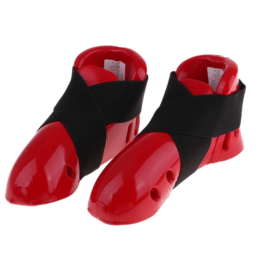perfeclan 1 Paire Jambi/ères de Taekwondo Protecteur de Tibia Prot/ège-Pied /Équipement de Protection pour Enfants