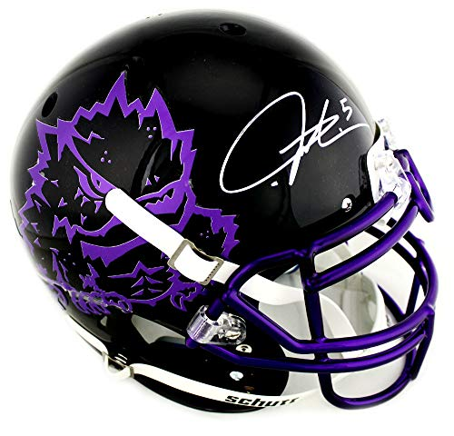 Ladainian Tomlinson Signed Authentic Helmet - LaDainian Tomlinson Autographed/Signed TCU Horned Frogs Schutt Authentic Black NCAA Helmet