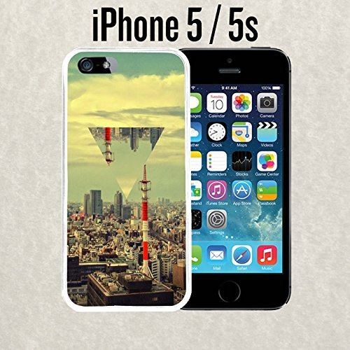 iPhone Case City Skyline Triangle for iPhone 5 / 5s Rubber White (Ships from - From 6 Case Iphone Chanel