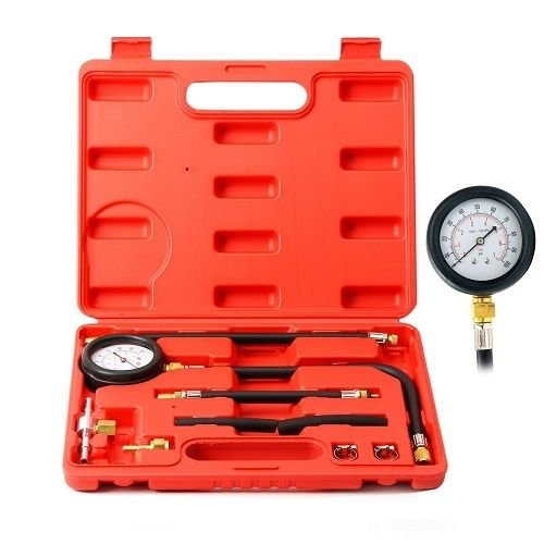Universal Fuel Injection Gauge Pump Pressure Tester Test Kit Car System Tool Set