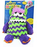 Worry Monster Plush Soft Toy Purple & Green