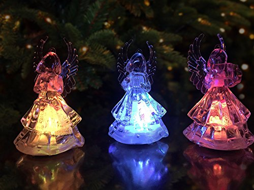Banberry Designs Lighted Christmas Angel Figures 3 Led