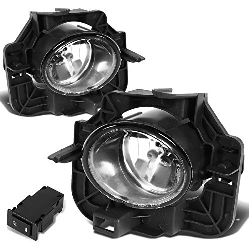 For Nissan Altima Fog Light Lamps+Switch & Blubs (Clear Lens) - 4-Door Seden