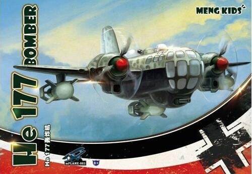 Meng Kids Heinkel He 177 Bomber Special Edition White Sprues - Plastic #MKP003S by Meng