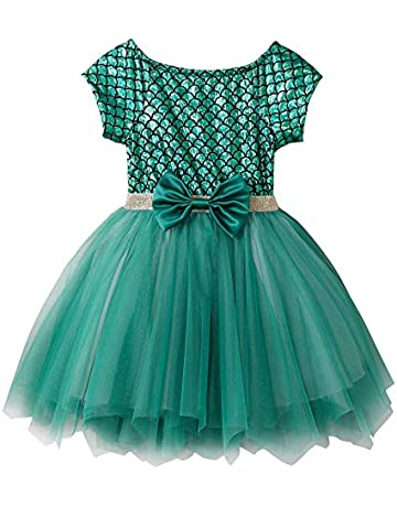 7b51fe9ed Fiream Soft and Comfortable Well-Made Mermaid Short Sleeve Princess Tulle  Dress(JP015,