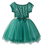 Fiream Soft and Comfortable Well-Made Mermaid Short Sleeve Princess Tulle Dress(JP014,3-4Y)