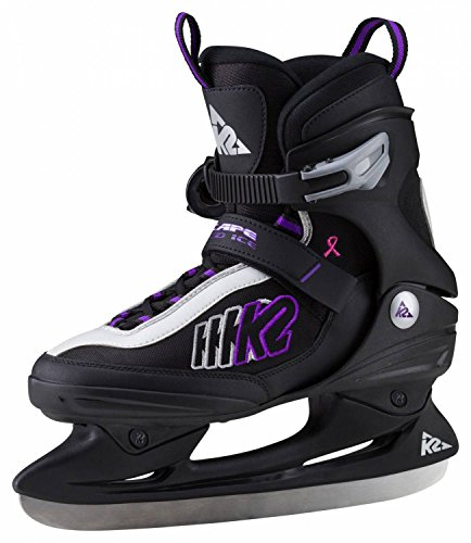 K2 Women's Ice Hockey Boots–Complete Escape Speed Ice Skates–Ice Skates–Black, 7 by K2