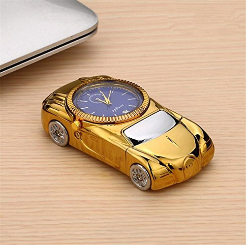 Pansupply Fashion Car Shape Watches Casual Quartz with USB Windproof Flameless Cigarette Lighter (Gold) - Halloween Costume Jack Daniels Marlboro