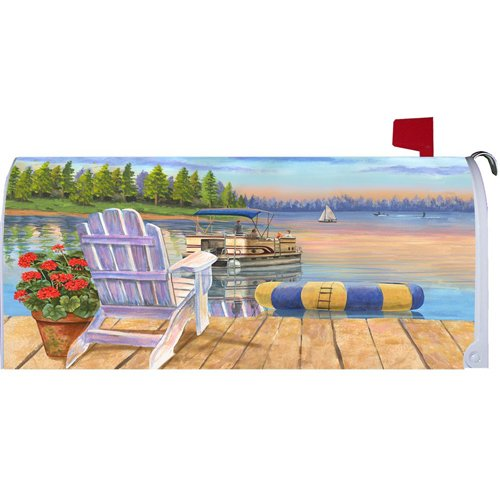 Custom Decor Easy At The Lake Mailbox Cover Belle Rose