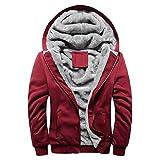 Moserian Mens Hoodie Winter Warm Fleece Zipper Sweater Jacket Outwear Coat