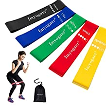 Resistance Loop Bands Set of 5 Exercise Bands Yoga Bands Resistance Bands Gym Elastic Band Use with Yoga, Pilates, Cross Fit, Home Exercise by MG MULGORE