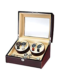 OLYMBROS Wooden Quad Automatic Watch Winder for 4+5 Watches