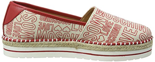 Love Moschino Scarpad.13447/35 Can.EMB.RSS/VT.RSS, Mocassini Donna Rosso (Red)