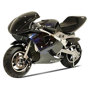 MotoTec Electric 36v Pocket Bike Motorcycle Black