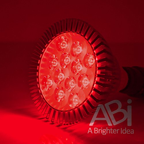 ABI 12W Deep Red 660nm LED Bloom Booster Grow Light Bulb for Flowering and Spectrum Enhancement (Led Red Bulb Light)