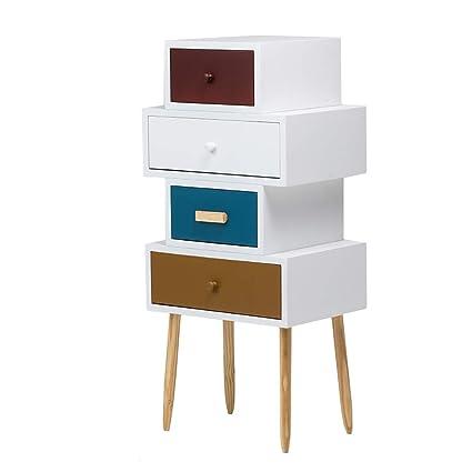Amazon.de: Teng Peng Beistelltisch Schlafzimmer Night Stand Locker Mit 3  Schubladen (3
