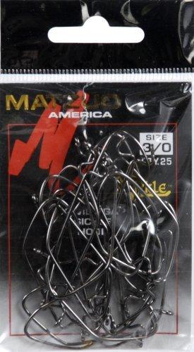 (Matzuo Sickle X-Tra Wide Gap Worm Hook, Black Chrome, 3/0 )