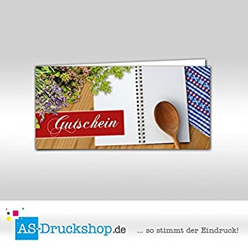 74c2d7faf0 Gutschein Gastronomie / Essen - Kochlöffel / 100 Stück / DIN Lang ...