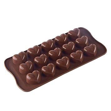 Ogquaton 1 UNIDS Silicona En Forma de Corazón Molde Bandeja de Dulces de Chocolate Molde DIY Hornear Suministros para Hacer Chocolate Jelly Icing etc.