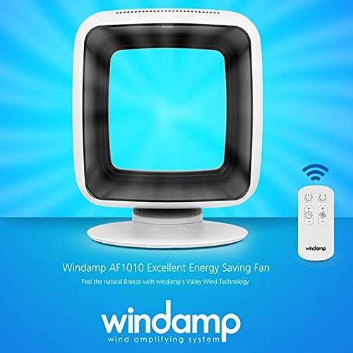 Windamp Bladeless Quiet Small Room Floor Fan Cooling Air AF1010 100V~240V by Windamp