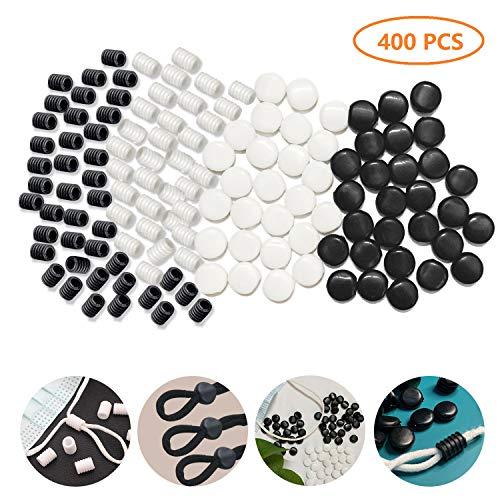 🥇 Juego de 400 cierres de cordón de silicona para cordones