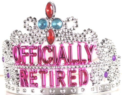 Forum Novelties Officially Retired Retirement Party Tiara (Decorations Retirement Party)