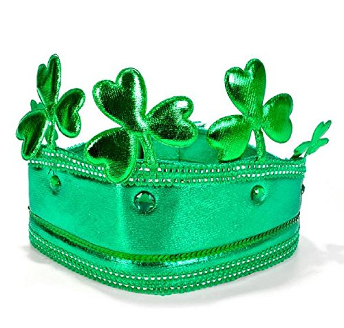 Crowning Baby Costume (1 DOZEN, JUMBO SHAMROCK CROWN, A crowning achievement in Irish headwear. These festively fun green crowns feature oversized shamrocks for a distinctive St. Patrick's Day lid. Each piece on card.)