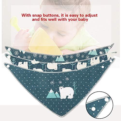 Baberos para beb/és 3pcs Baby Girl Boy Baberos para pa/ñales Pa/ñuelos de algod/ón suave para beb/és reci/én nacidos Bear