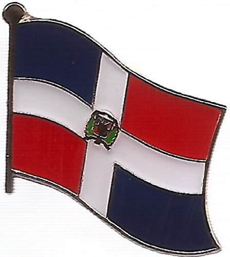 PACK of 3 Dominican Republic Single Flag Lapel Pins, Dominicans Pin (Republic Flag Lapel Pin)